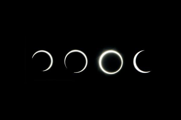 Proses pembentukan gerhana matahari cincin