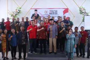 Sosialisasi 4 Pilar MPR RI dengan tema Peran Gereja dalam Menjaga 4 Pilar Kebangsaan bersama Anggota DPR RI, Mayjen TNI MAR (Purn) Sturman Panjaitan, SH