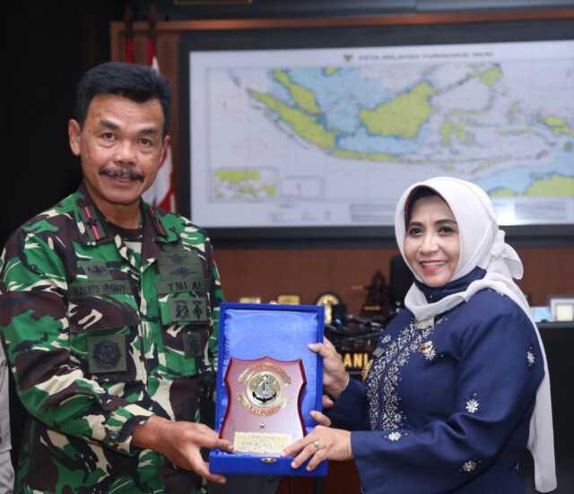 Lakukan Silaturahmi ke Lantamal IV Tanjungpinang, Rahma Ingin Perkuat Sinergitas
