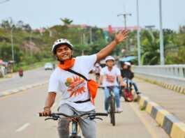 Gowes di Jembatan Barelang