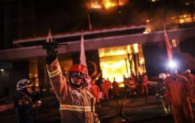 Gedung Kejagung Terbakar