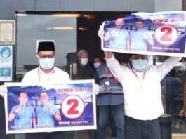Paslon Alias Wello-Dalmasri mendapat nomor urut 2 di Pilkada Bintan 2020.