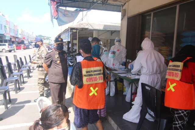 Razia Masker di Bengkong