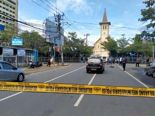 Situasi Pascabom Bunuh Diri di Katedral Makasar