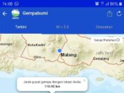 Pusat Gempa di kabupaten Malang