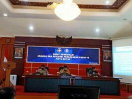 Rakor Anev Wali Kota Blitar bersama OPD terkait penanganan Covid-19