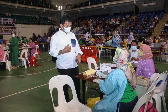 Vaksinasi di Temenggung Abdul Jamal