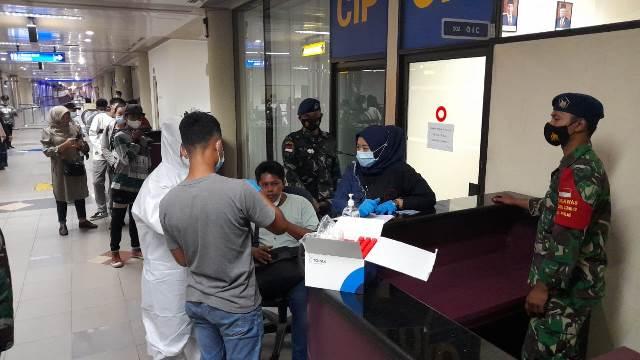 Hasil PCR Penumpang dari Padang