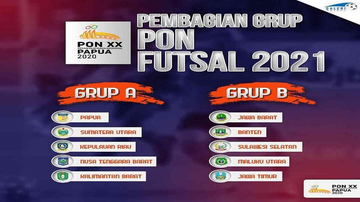 grup A di PON XX Papua cabor futsal