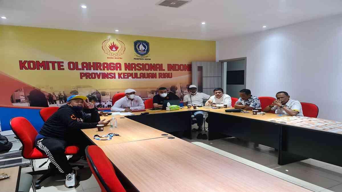 meeting secara virtual terkait drawing futsal PON XX Papua