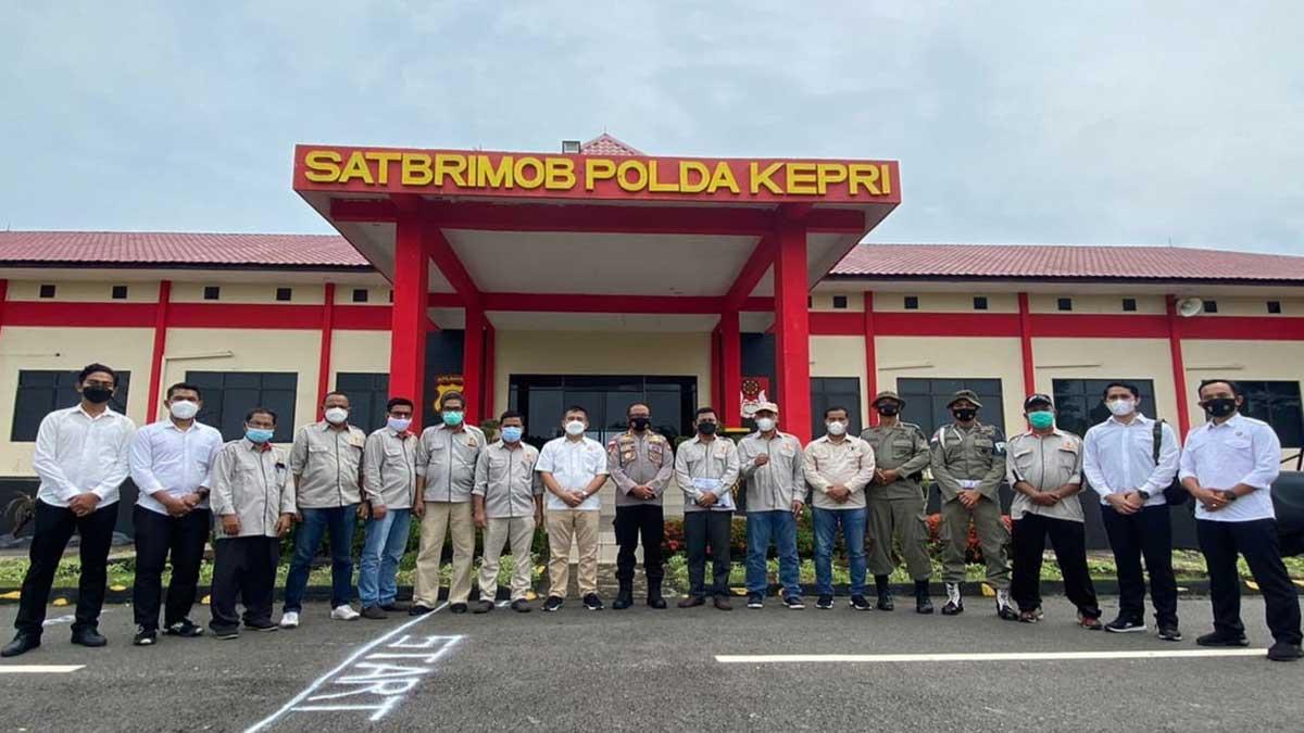 tim pengamanan Kontingen Kepri